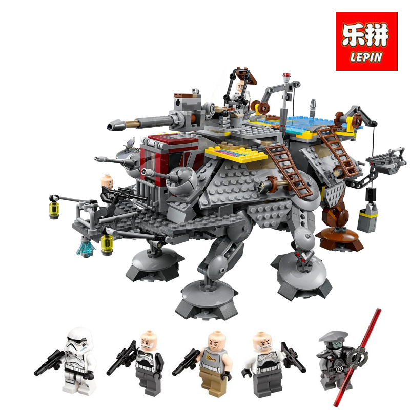 LEPIN 05032 1022cs New Star Captain Rex's AT- Building TE Blocks Brick wars legoINGlys with 75157 Lovely Children day's DIY Gift lepin 1022pcs star series wars captain rex s at te building blocks brick lepin 05032 boys toys gift compatible legoingly 75157
