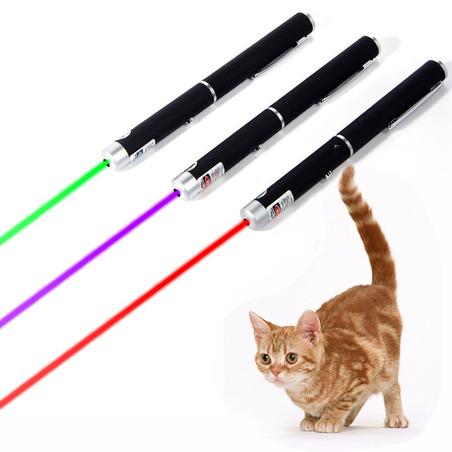 Cat Chaser Laser Giocattoli Interactive 5 mw 532nm Verde Rosso Penna Laser Viola