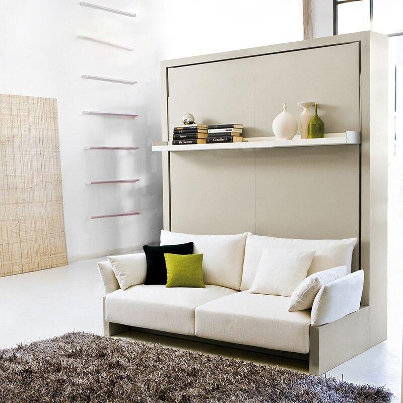 Toile de lin lit cadre doux électrique canapé mur lit Meubles de Maison Chambre camas allumé muebles de dormitorio yatak mobilya quarto