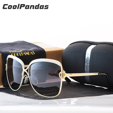 Coolpandas Brand Designer HD Polarized sunglasses women Retro Metal Frame Sun Glasses Famous Lady Gift Oculos Feminino D UV400