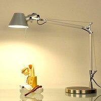 Long Swing Arm Desk Lamp Led Table Lamp Office Led Reading Light Home Lampe Bureau Led Desk Lamp Clip