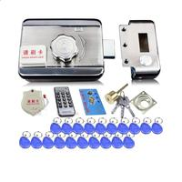 Electronic Access Control Lock System Electronic Integrated RFID Door Rim Lock W 1000 Users RFID Reader