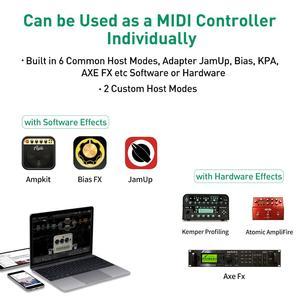 Image 4 - TS Mega 2 In 1 Midi Fuß Controller Mit Audio Interface Gitarre Pedal USB Aufnahme Für iPhone iPad Android Geräte mac PC