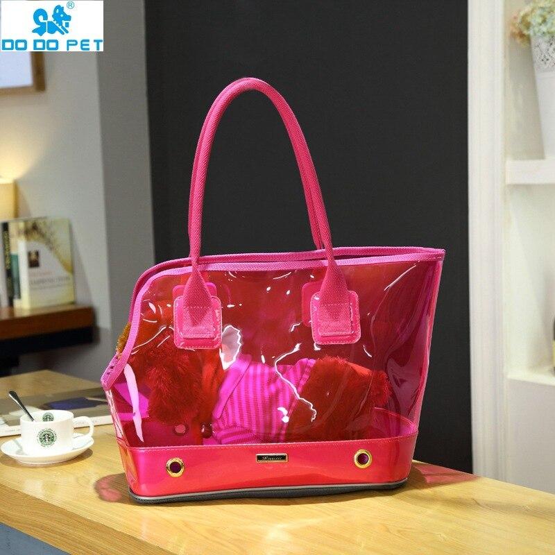 Pet Carry Bag Cat and Dog Bag Portable Cage Transparent Breathable Handsome Creative Handbag