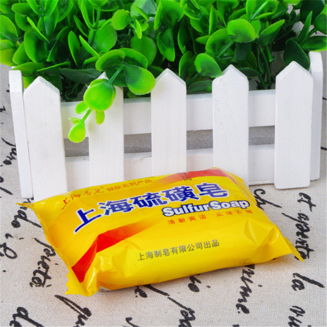 5 pcs 85g Shanghai Sulfur Soap 4 Skin Acne Psoriasis  Conditions  Seborrhea Eczema Anti Fungus Perfume Butter Bubble Bath 5