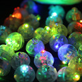10Pcs/lot 2017 Color Round Led RGB Flash Ball Lamps Put in paper Lantern Mini Balloon White Light For Wedding Party Decoration