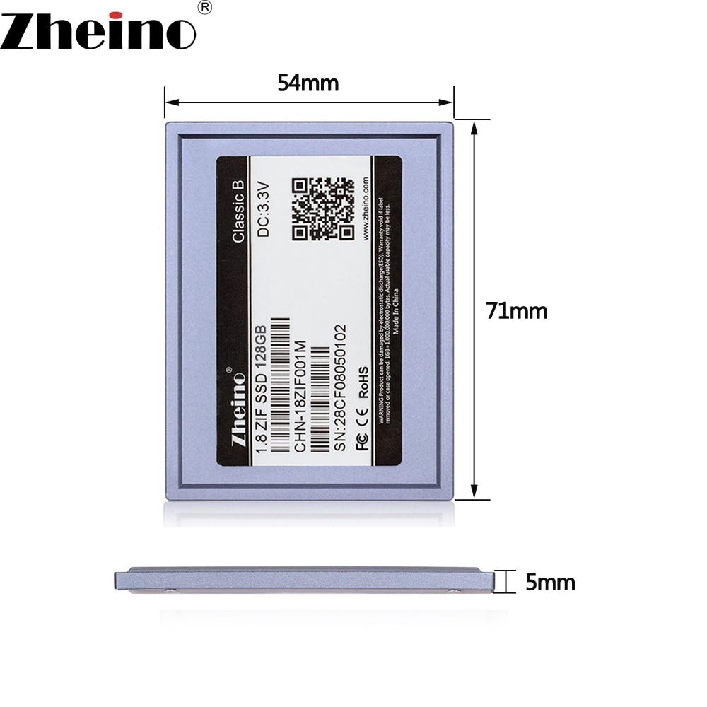 Zheino ZIF CE 128 gb SSD 2D MLC 1.8 pouce 5mm Disque Dur Pour MacBook Air 1st A1237 Dell d420 D430 HP Mini 1000 VGN-TZ50B P27 P37J