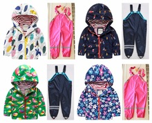 Boys and girls Jackets suits famous windproof waterproof anti cold coat plus pants high end children
