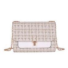 5e6fb8bab Bolsa de hombro de moda de mujer Botón de lana diseño Simple cadena de  hombro bolsa de mensajero bolsa de saco principal Femme