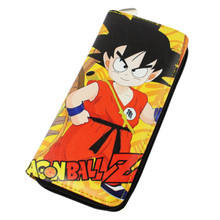 1x Anime Dragon Ball Z DBZ Billfold Cosplay Saiyan Son Gokou Long Wallet Purse Gift