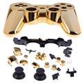 Reemplazo de oro bluetooth wireless controller shell para ps3 controller vivienda completa caso de shell para sony play station 3 ps3
