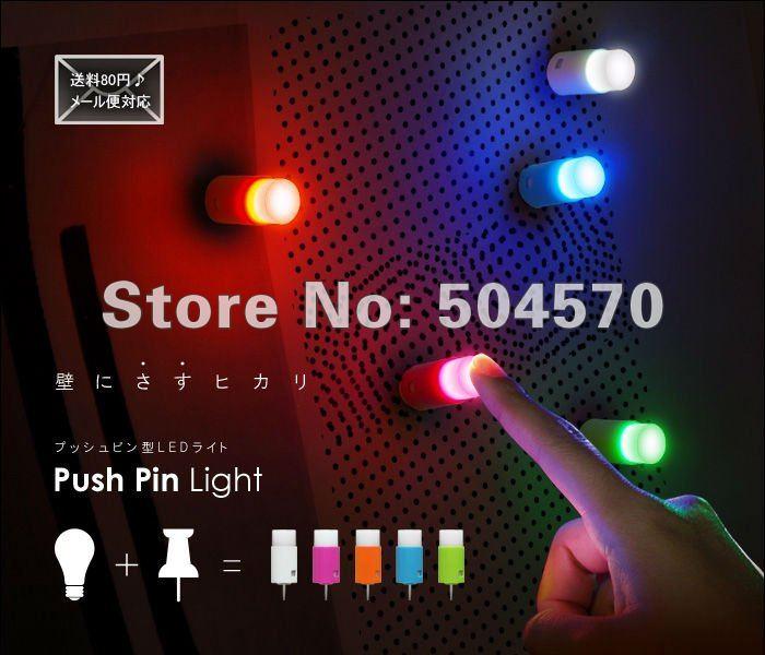 10packs / lot (50pcs) LED Push Pin svjetlo jedan dodir svjetlo Mini - Za blagdane i zabave - Foto 1