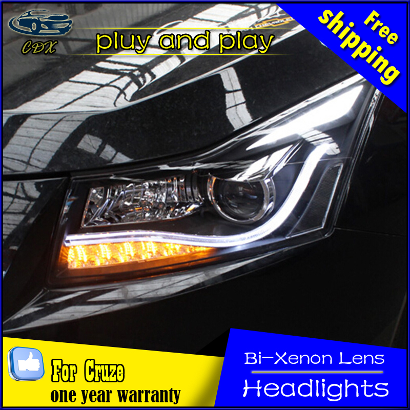 Car Styling Head Lamp for Chevrolet Cruze Headlights Cruze LED Headlight A8 DRL Daytime Running Light Bi-Xenon HID Accessories shivaki shap 3010r