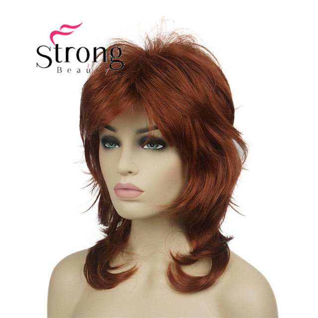 """StrongBeauty 16"""" Long Blonde Fluffy Shag PermaTeased Full synthetic Wig Wigs COLOUR CHOICES"""