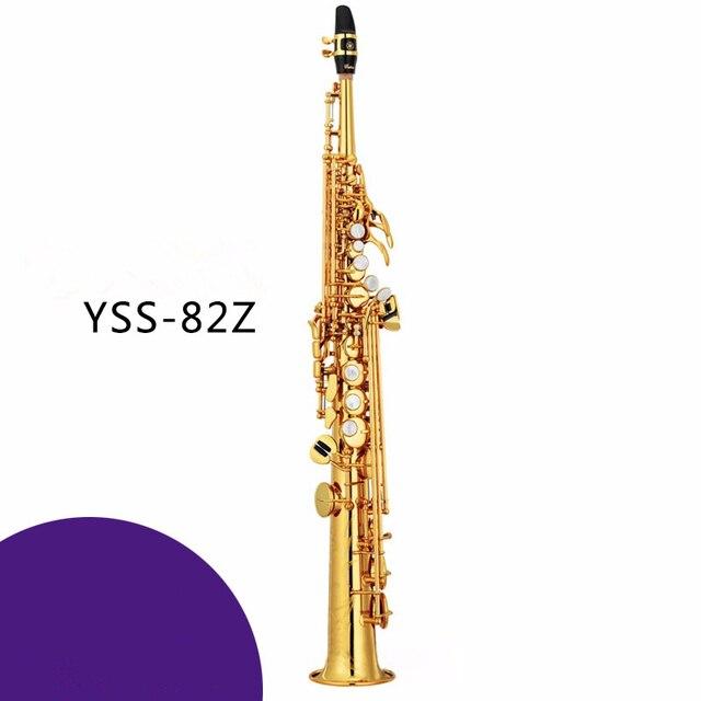 Сопрано Саксофон YSS-82Z си-бемоль играть профессионально одной прямой Топ Музыкальные Инструменты Бесплатная доставка профессиональный класс