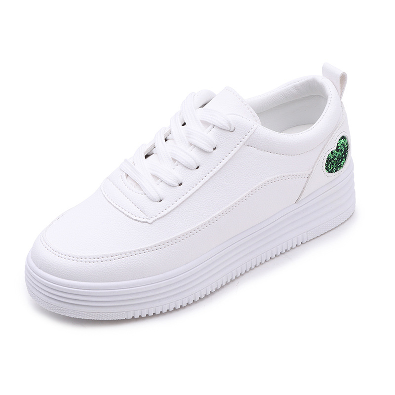 Fashion Leisure Women Casual Shoes Heart-Shaped Summer Lace Up Sneakers Low Casual Sewing Breathable Vulcanize Shoes