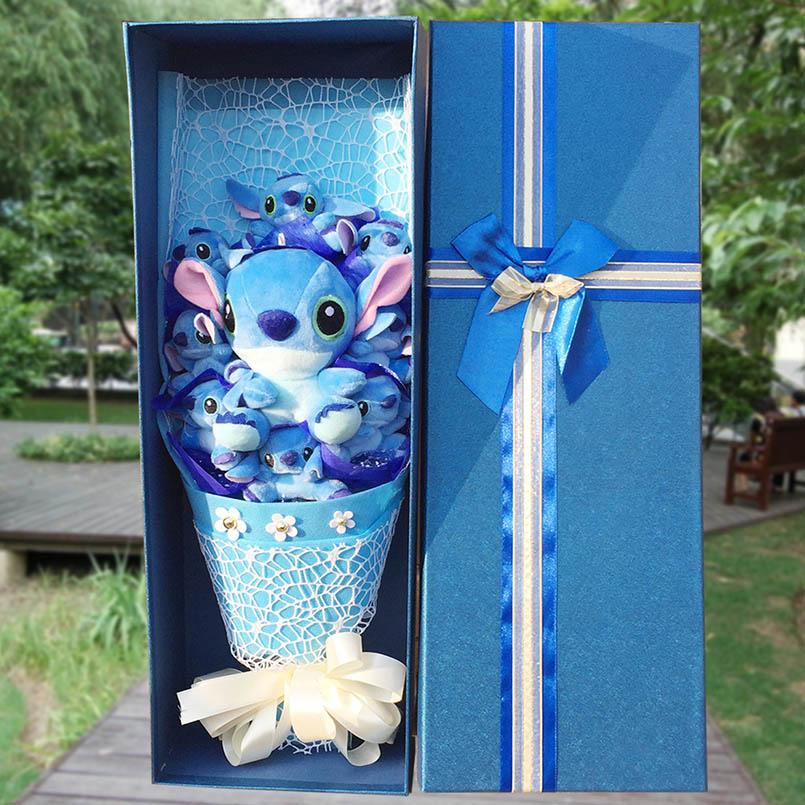 Doux Point De Bouquet Peluche Animaux En Peluche Jouets Cadeaux Artificielle Belle Bande Dessinée Faux Fleurs Graduation Cadeaux du Jour de Valentine