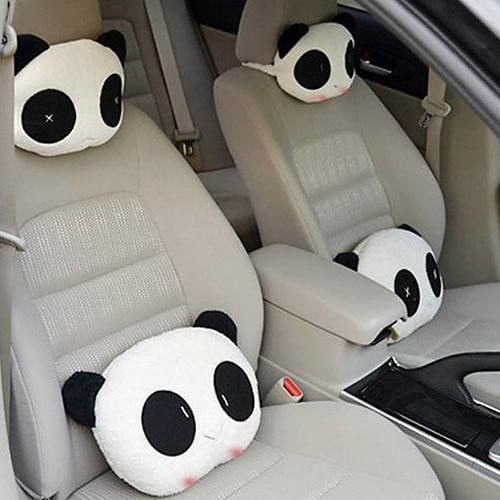 Car Pillow 1 Piece Lovely Creative Panda For Auto Car Neck Rest Cushion Headrest Pillow Mat Car Cushion