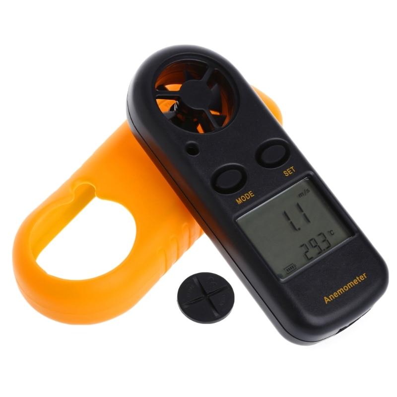 GM816 Mini Digital Anemometer Wind Speed Temperature Tester w/LCD Backlight