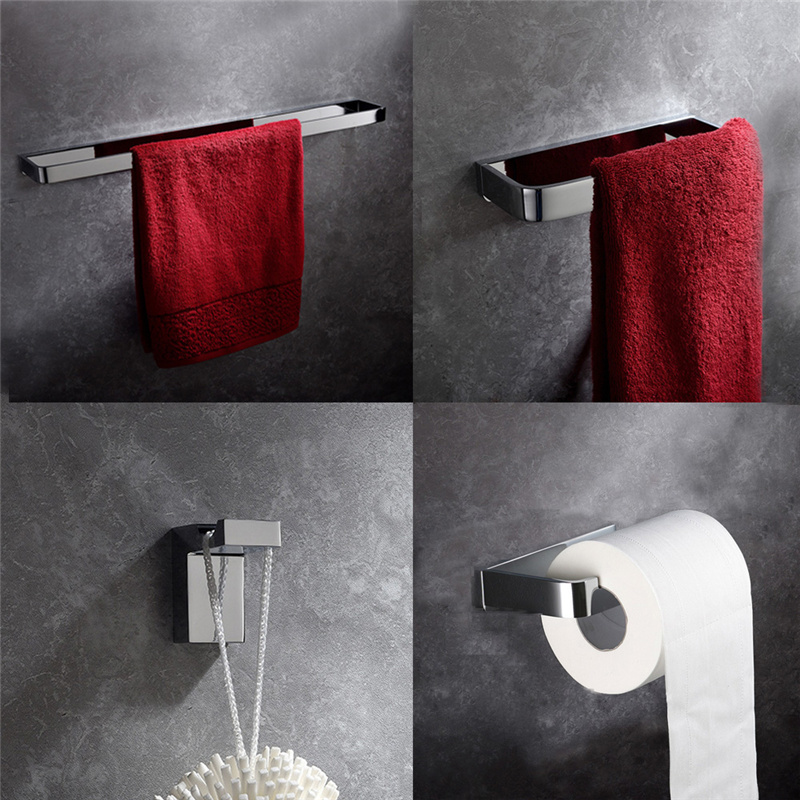 Leyden 4pcs Towel Bar Towel Ring Robe Hook Toilet Paper Holder Wall Mounted Solid Brass Bath Hardware Bathroom Accessories Set ornamentation bathroom accessories bath hardware high quality full brass towel bar aliexpress delivery logistics guarantee