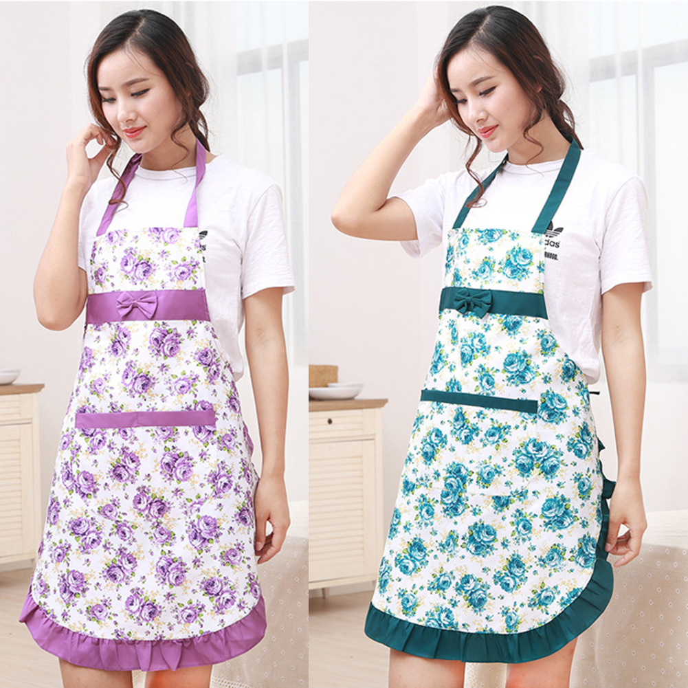 kitchen wear hinges for cabinets waterproof floral strap style home aprons oil prevention in from garden on aliexpress com alibaba group