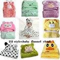 23 Styles Aniaml Modeling Baby Hooded Bathrobe Cartoon Flannel Towel Pattern Newborn Baby Girl Fleece Blankets Plush Towels