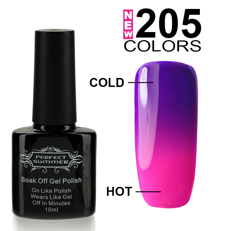 Gel Nail Polish Sale: Perfect Summer UV Gel Polish Temperature Change Color UV