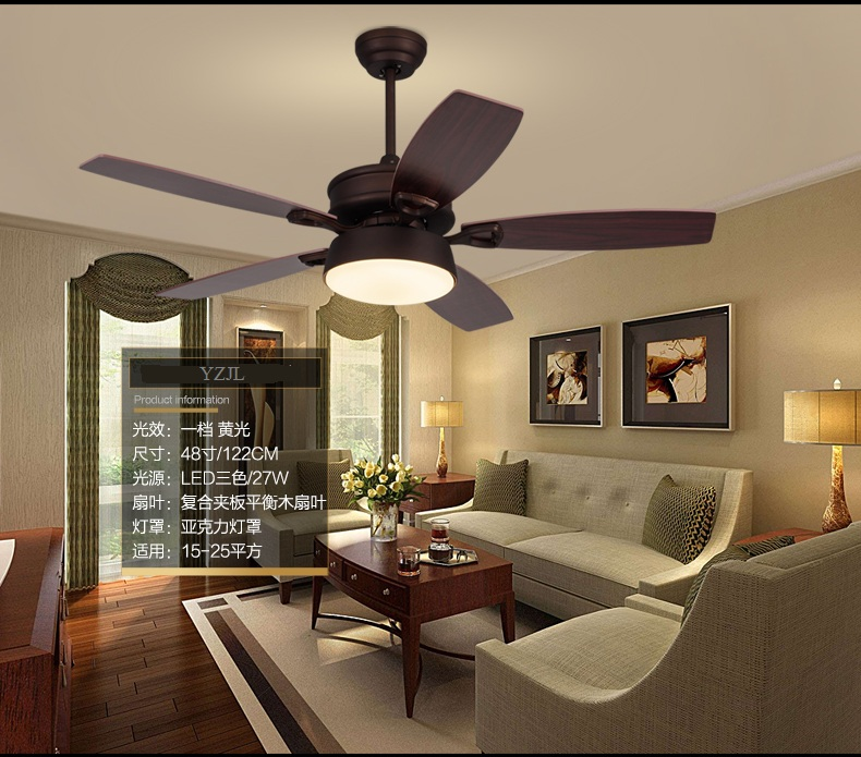 Ceiling Fan Light Living Room Antique Dining Room Fans: American Country Ceiling Chandelier Fan Living Room Dining