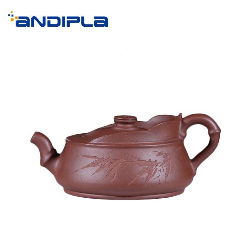 240ml Yixing Purple Clay Teapot Handmade Purple Mud Zisha Pot Drinkware Office Kung Fu Tea Set Tea Kettle Decoration Collection