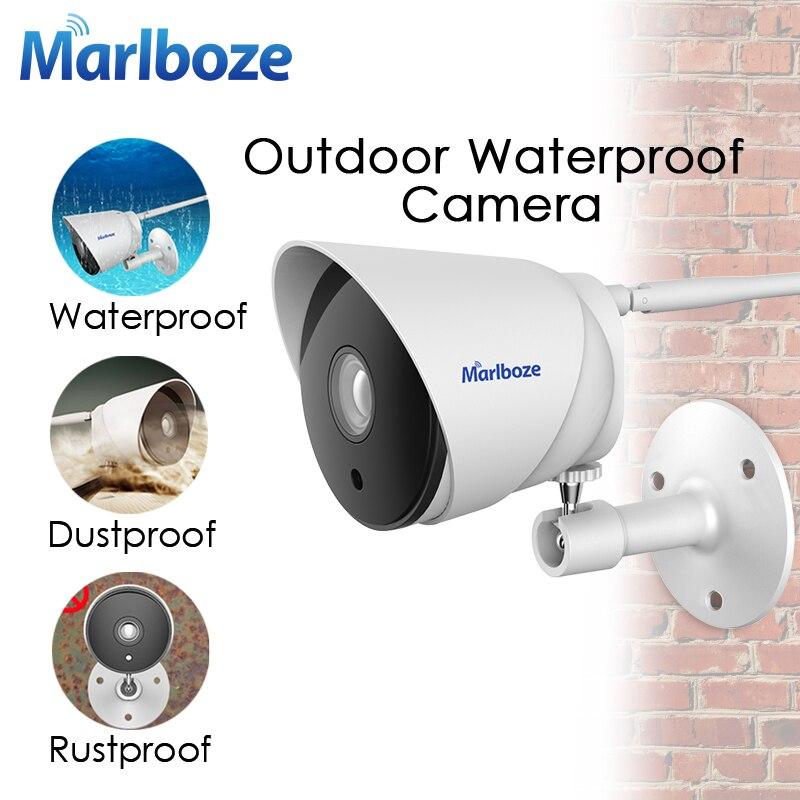 Marlboze Outdoor Waterproof 1080P WIFI IP Camera IR Night Vision APP Remote Monitor Security Surveillance Camera 64G Card Slot