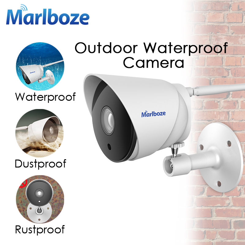 Marlboze Outdoor Waterproof 720P HD WIFI IP Camera IR Night Vision APP Remote Monitor Security Surveillance Camera 64G Card Slot