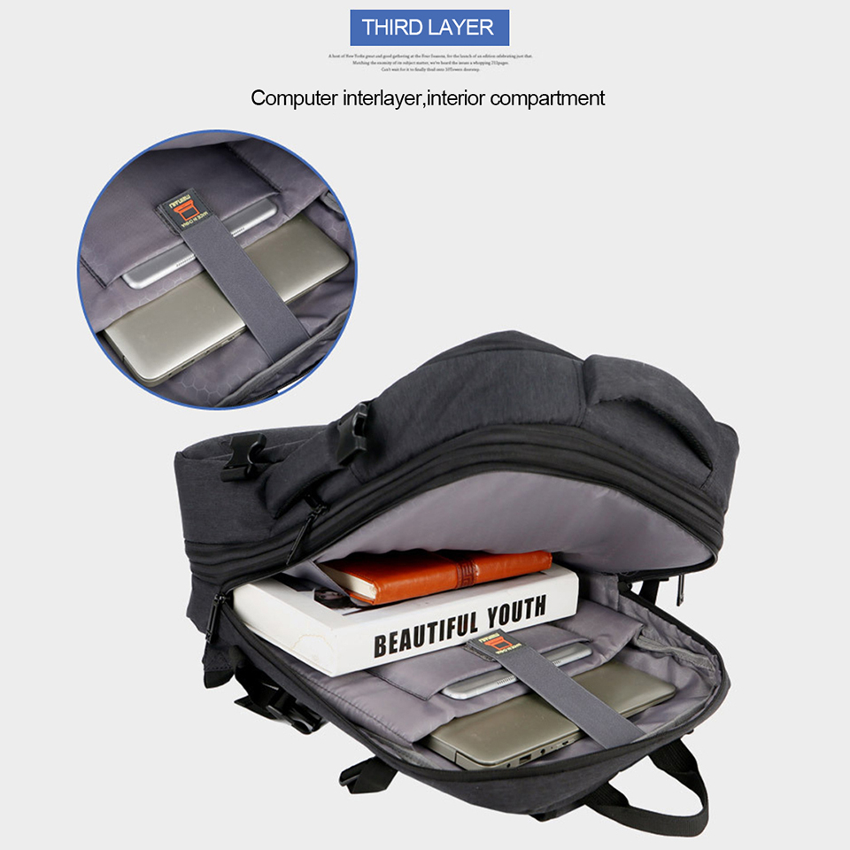 Image 5 - Anti Theft Backpack 17 Inch Laptop Men Bagpack Travel Waterproof  Large Capacity Back Pack Women Male Black Backpacks USB  ChargerBackpacks