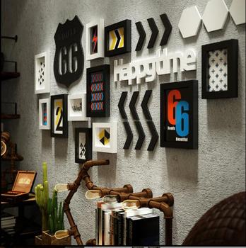 3D Creative Wall Pendant Loft Style Home Wall Ornaments Wall Stickers for bedroom background wall hangings wal photos in set