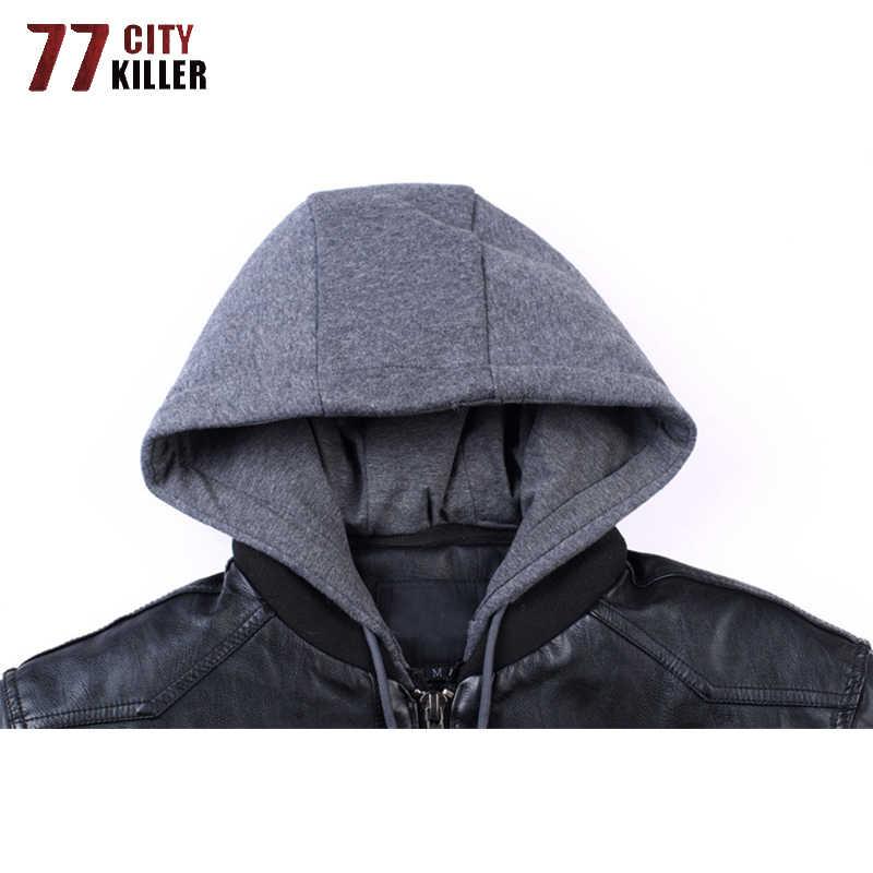 Мотоциклетная кожаная куртка мужская весенняя куртка на осень из искусственной кожи Винтаж куртка-бомбер, авиационная куртка для мальчиков; Верхняя одежда с защитой от ветра искусственная (-ый) Куртки Размеры M-5XL