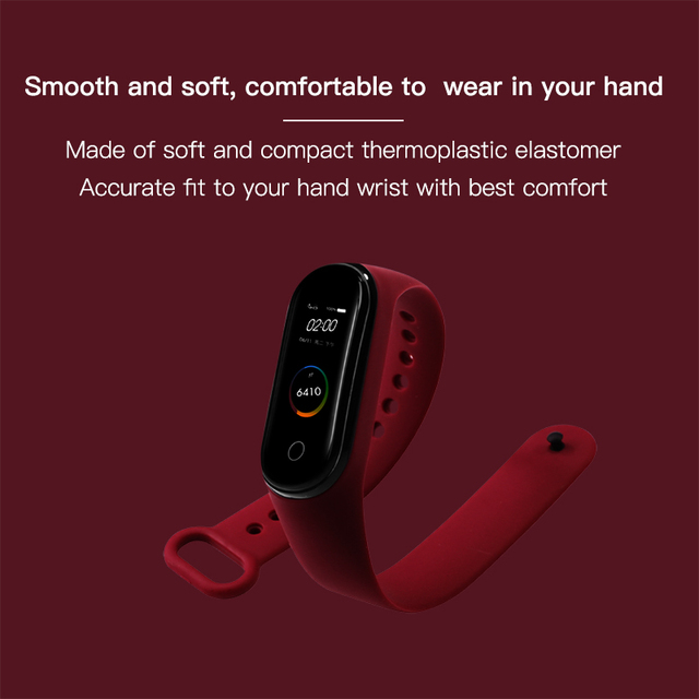 BOORUI for xiaomi mi band 4 strap new fashional colorful miband 4 strap silicone mi band 4 belt replacement for xiaomi mi 4 band 2