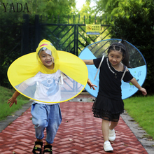 YADA Outdoor Yellow Duck UFO Cap Umbrella Hat Novelty Sun Day Rainy Hands Folding & Waterproof Cartoon Pig Caps YS0018