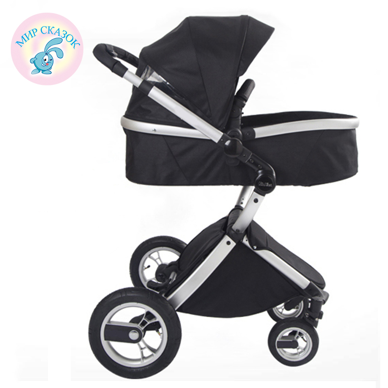 ФОТО russia free shipping baby stroller 2 in 1 luxury high landscape shockproof baby stroller can sit and lietwo-way trolley