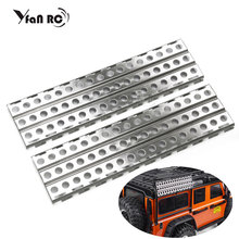 2Pcs Metal Sand Ladder Recovery Board for 1/10 RC Rock Crawler Axial SCX10 90046  TRX4 D90 D110 Tamiya CC01 Free Shipping mhpc 1 10 rc rock crawler scale accessory golf clubs for axial tamiya scx10 d90 cod fh31114