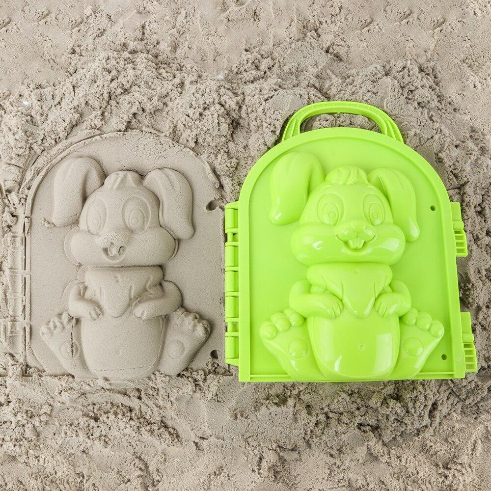 Funny Beach Sand Game 3D Cartoon Rabbit Mold Beach Snow Sand Model Children's Model Toys Children Outdoor Beach Playset