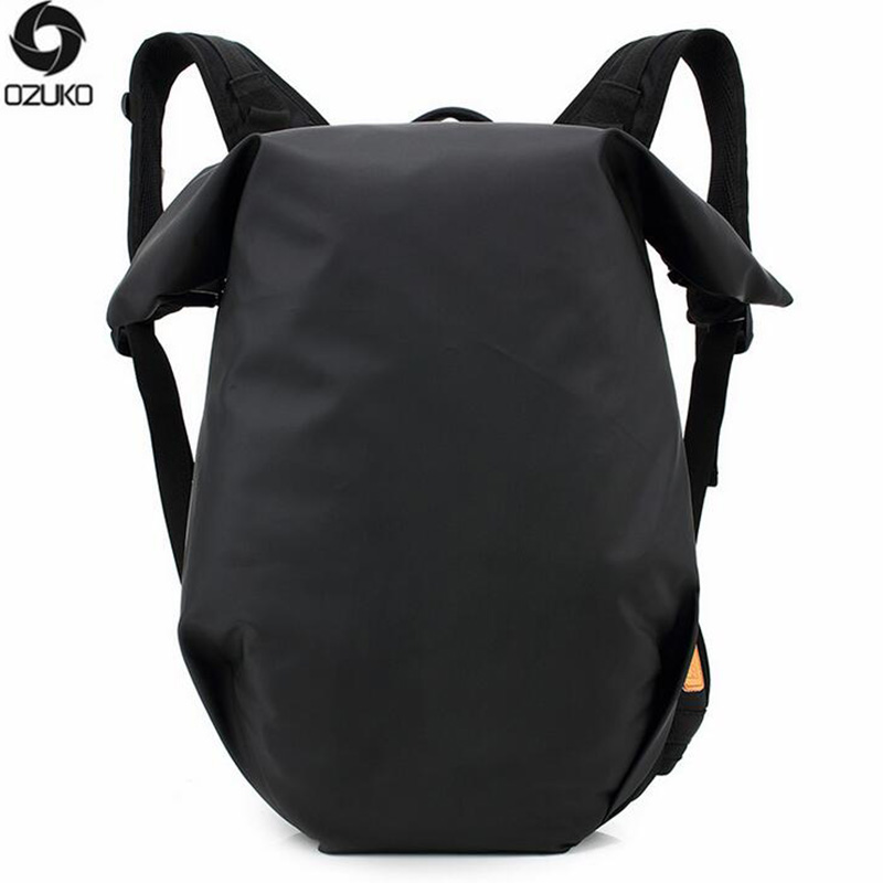 OZUKO Men Backpack waterproof Solid Color Fallow Computer Fashion Oxford Cloth Backpack Student Men School Bags For Teenagers ozuko 2017 new arrival men backpack 15 6 inch notebook bags oxford waterproof anti theft teenagers men student fallow school bag