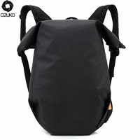 OZUKO Men Backpack Waterproof Solid Color Fallow Computer Fashion Oxford Cloth Backpack Student Men School Bags