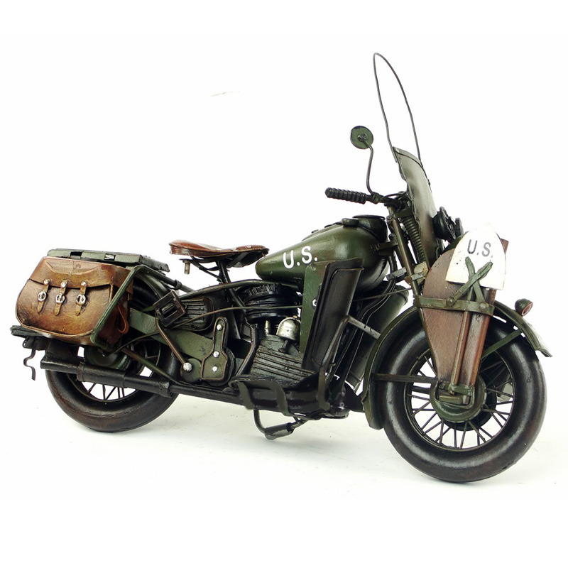 Vespa model motorcycle vintage 1942 US Army HALLEY WAL metal motorcycle toy 1:12 safe HALEY diecast vespa motor old collection цена
