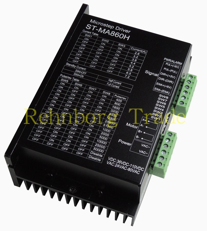 Free shipping CNC ST-MA860H Name34 Stepper Motor Driver 36-110VDC 256 Subdivision replace leadshine MA860H 2phase 24-80VAC 7.2A