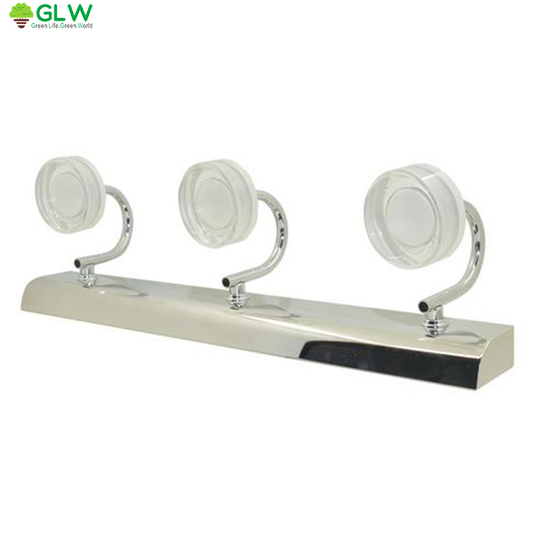 ФОТО GLW Bathroom Led Mirror Light Modern Make Up Sconces Wall Light Banheiro Mirror Lampe Murale Warm White LED Vanity Light lampy