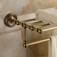 Мода медный антик загородном ванной вешалка для полотенец старинные вешалка для полотенец полка gy509