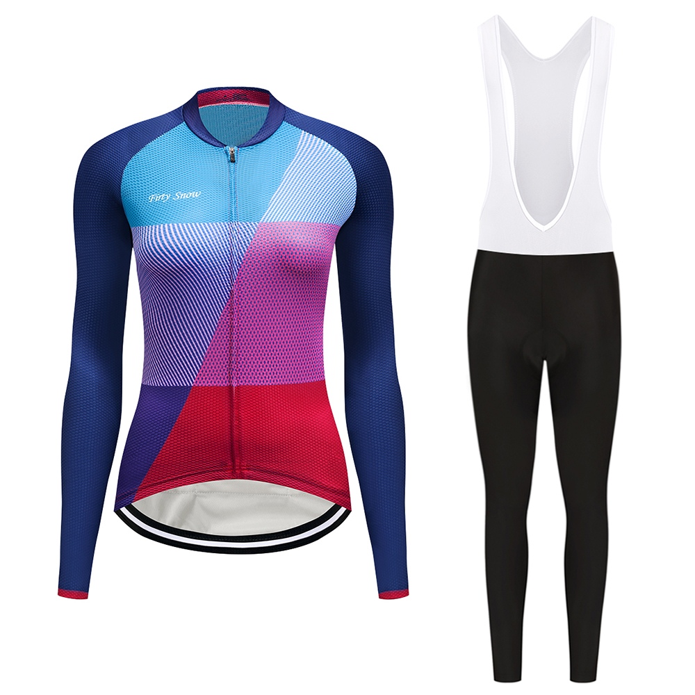 2017 Firty sonw new long sleeve cycling wear clothes bicycle cycling jersey bib pants set Breathable clothing set
