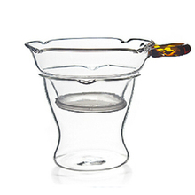 PINDEFANG Elegant 2/PC Heat-resistant Glass Filter Kungfu Tea Set Accessories Flower Herbal Tea Stainer Stand Teaset Decoration