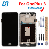For OnePlus 3 Lcd Display Touch Scree With Frame New Digitizer Touch Screen Panel Accessory Replacement