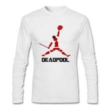 Популярная футболка с дэдпулом; одежда для гика; хлопковые футболки с круглым вырезом и длинными рукавами; Homme