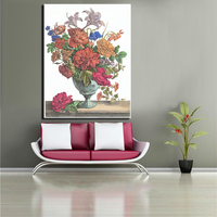 Large Classical Beautiful Flowers Frameless Picture Painting For Home Decor Idea Oil Painting Art Print On